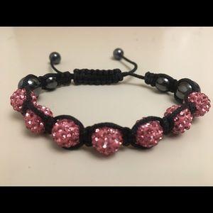Jewelry - Pink Rhinestone Ball Bracelet